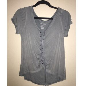 American Eagle Lace-up Top
